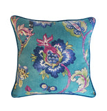 Peacock Pillow Cover -Robert Allen Pillow Cover -Designer Pillow Cover -Floral Print Pillow Cover -Teal Pillows- Flower Print -Floral Pillow