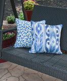 Outdoor Pillow Cover  - Blue Pillow Cover - Zippered Pillow - Pillow with Piping - Indigo Pillow -  Throw Pillow -Outdoor
