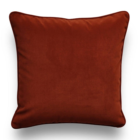 Copper Pillow Cover -Velvet Throw Pillow Cover -Orange Pillow -Solid Orange Pillows -Robert Allen -Velvet Pillow Covers- Copper Throw Pillow