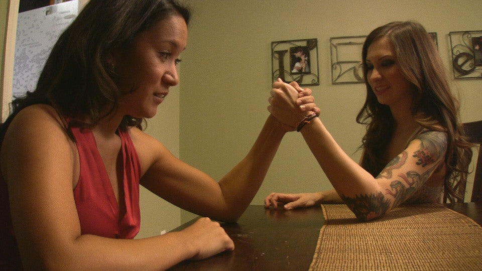 KELLY & LILY ARMWRESTLE