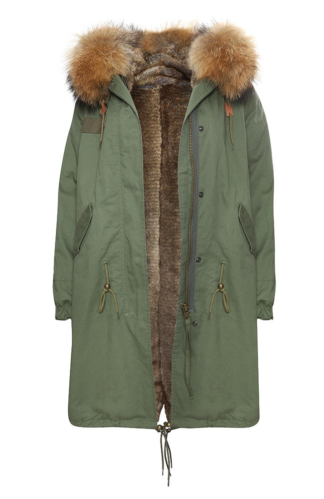 Khaki Parka with Natural Fur (Long)
