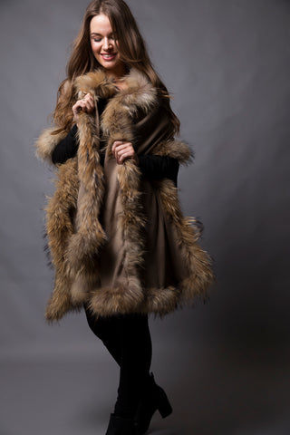 Mink Wrap with Natural Fur