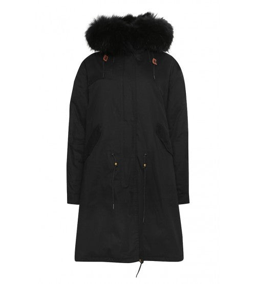 Black Parka with Black Fur (Long)