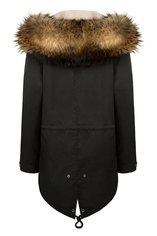 Black Parka Fox Fur