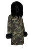 Camo Parka with Black Fur Hood (Long)