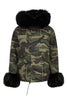 Camo Parka with Black Fur Hood (Short)