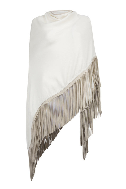 Cream Tassle Wrap