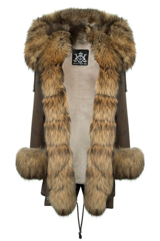 Khaki Parka with Golden Fox Fur