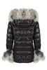 Puffa Jacket Padded Coat Natural Fur