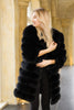 Luxury Black Fox Fur Coat