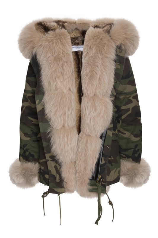 Camo Parka with Fur (Short)