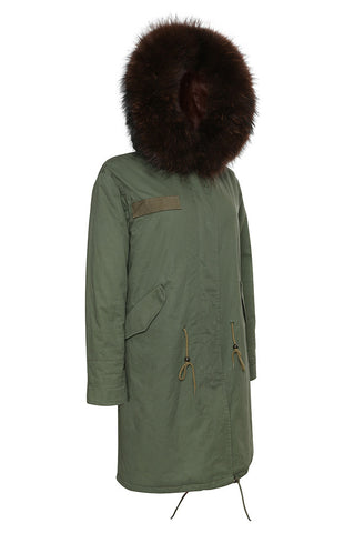 Khaki Parka with Natural Fur (Short)
