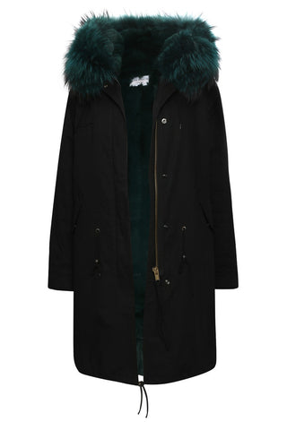 Silver Parka with Black Fur (Short)