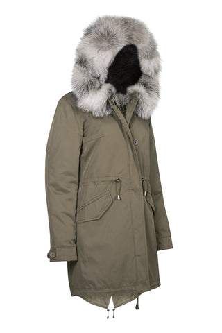 Khaki Parka with Arctic Fox