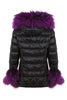 Puffa Jacket Padded Coat Purple Fur