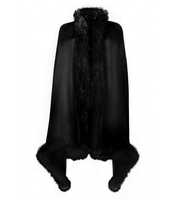 Black Wrap with Black Full Fur