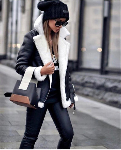 Pale Grey Lambskin Shearling Coat