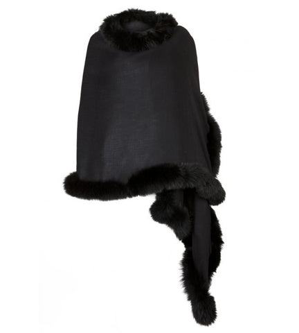 Black Wrap with Black Fur