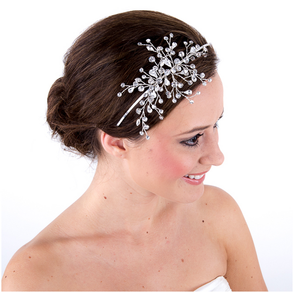 Estelle Glitzy Side Tiara