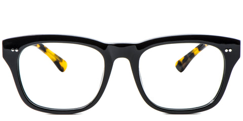 Yellow Main ZILOE Edge Designer Oversized Tortoise Acetate Prescription Glasses