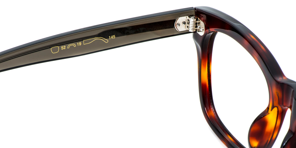 Black Detail ZILOE Edge Designer Oversized Tortoise Acetate Glasses