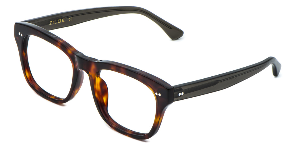 3bc7d4dec7 ... Black Main ZILOE Edge Designer Oversized Tortoise Acetate Prescription  Glasses ...