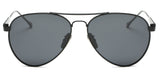 BlackSolid Main ZILOE Aviator Black Metal Polarised Sunglasses