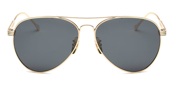 GoldBlack Main ZILOE Aviator Gold Metal Polarised Sunglasses