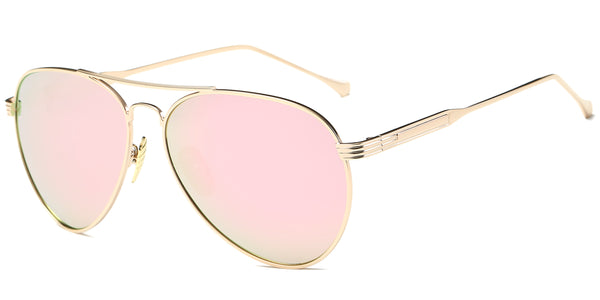 PeachMirror Main ZILOE Aviator Mirror Metal Polarised Sunglasses
