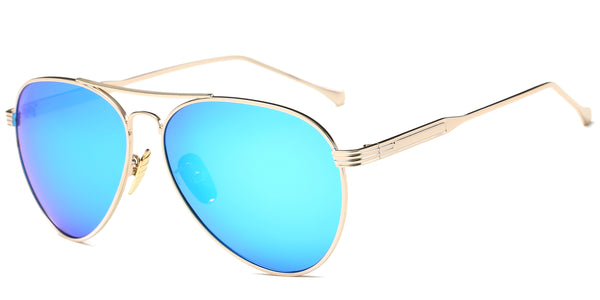 BlueMirror Main ZILOE Aviator Mirror Metal Polarised Sunglasses