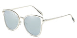 ChromeMirror Main ZILOE Butterfly Polarised Designer Oversized Mirror Metal Sunglasses