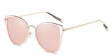 RoseMirror Main ZILOE Butterfly Polarised Designer Oversized Mirror Metal Sunglasses