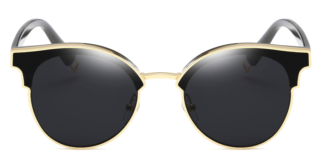 GoldnBlack Main ZILOE Vitality Retro Oval Oversized Sunglasses
