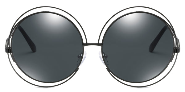 Black Main ZILOE Sunshine Round Oversized Sunglasses