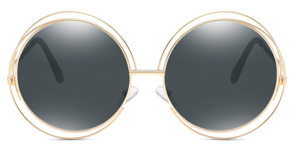 Char Main ZILOE Sunshine Round Oversized Sunglasses