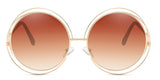 BronzeGradient Main ZILOE Sunshine Round Oversized Sunglasses