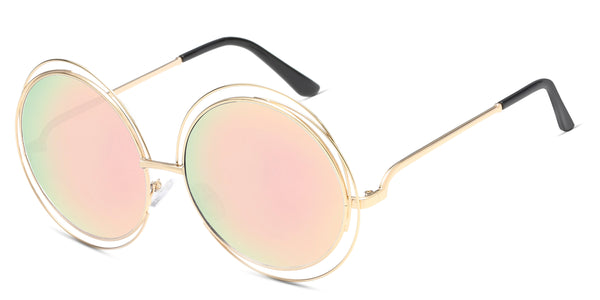 MirrorPeach Main ZILOE Sunshine Round Oversized Sunglasses