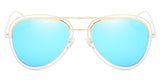 SkyblueMirror Main ZILOE Pearl Blue Polarised Aviator Oversized Sunglasses