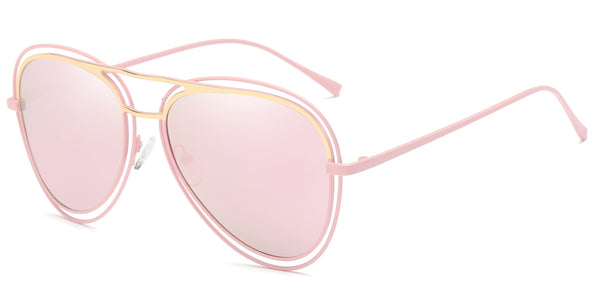 RoseMirror Main ZILOE Pearl Rosegold Polarised Aviator Oversized Sunglasses