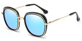 BlueMirror Main ZILOE Retro O Polarised Designer Oversized Sunglasses