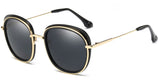Black Main ZILOE Retro O Polarised Designer Oversized Sunglasses