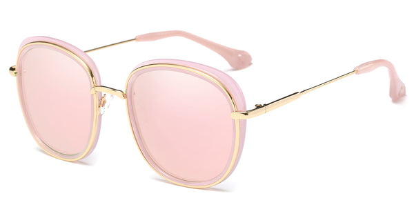 RoseMirror Main ZILOE Retro O Polarised Designer Oversized Sunglasses