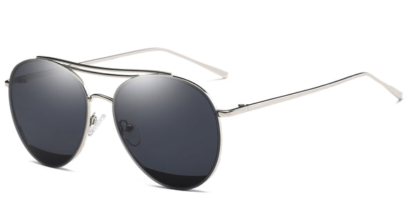 MidnightBlack Main ZILOE Zoom Metal Aviator Oversized Sunglasses