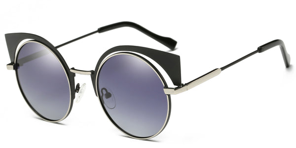 BlackGradient Main ZILOE Neko Polarised Cateye Round Sunglasses