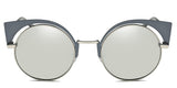 ChromeMirror Main ZILOE Neko Polarised Cateye Round Silver Sunglasses