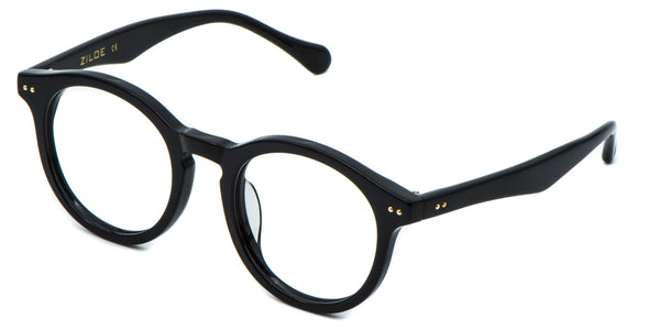 Black Main ZILOE Boldly Vintage Wayfarer Round Acetate Glasses