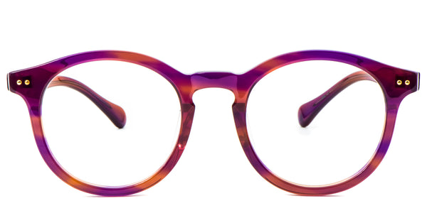 Purple Main ZILOE Boldly Vintage Wayfarer Round Purple Acetate Glasses