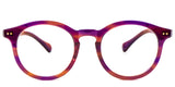 Purple Main ZILOE Boldly Vintage Wayfarer Round Acetate Glasses