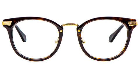 Brown Main ZILOE Blaze Vintage Round Acetate Glasses