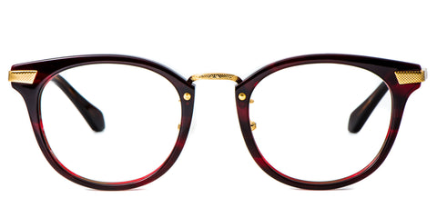 Red Main ZILOE Blaze Vintage Round Acetate Glasses